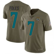 Wholesale Cheap Nike Jaguars #7 Nick Foles Olive Men's Stitched NFL Limited 2017 Salute to Service Jersey