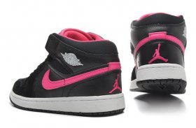 Wholesale Cheap Jordan 1 Girls Shoes black/pink/white