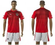 Wholesale Cheap Austria Blank Red Home Soccer Country Jersey