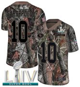 Wholesale Cheap Nike 49ers #10 Jimmy Garoppolo Camo Super Bowl LIV 2020 Men's Stitched NFL Limited Rush Realtree Jersey