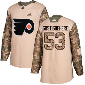 Wholesale Cheap Adidas Flyers #53 Shayne Gostisbehere Camo Authentic 2017 Veterans Day Stitched Youth NHL Jersey