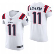 Cheap New England Patriots #11 Julian Edelman Nike Men's White Team Color Men's Stitched NFL 2020 Vapor Untouchable Elite Jersey