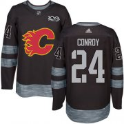 Wholesale Cheap Adidas Flames #24 Craig Conroy Black 1917-2017 100th Anniversary Stitched NHL Jersey