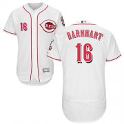 Wholesale Cheap Reds #16 Tucker Barnhart White Flexbase Authentic Collection Stitched MLB Jersey