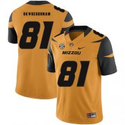 Wholesale Cheap Missouri Tigers 81 Albert Okwuegbunam Gold Nike College Football Jersey