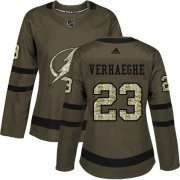Cheap Adidas Lightning #23 Carter Verhaeghe Green Salute to Service Women's Stitched NHL Jersey