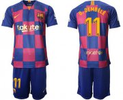 Wholesale Cheap Barcelona #11 O.Dembele 20th Anniversary Edition Home Soccer Club Jersey