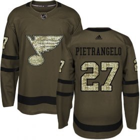 Wholesale Cheap Adidas Blues #27 Alex Pietrangelo Green Salute to Service Stitched Youth NHL Jersey