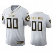 Wholesale Cheap Tennessee Titans Custom Men's Nike White Golden Edition Vapor Limited NFL 100 Jersey