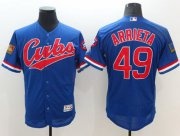 Wholesale Cubs #49 Jake Arrieta Blue Flexbase Authentic Collection 1994 Turn Back The Clock Stitched Baseball Jersey