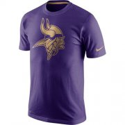 Wholesale Cheap Men's Minnesota Vikings Nike Purple Championship Drive Gold Collection Performance T-Shirt