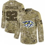 Wholesale Cheap Adidas Predators #92 Ryan Johansen Camo Authentic Stitched NHL Jersey