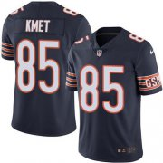 Wholesale Cheap Nike Bears #85 Cole Kmet Navy Blue Team Color Men's Stitched NFL Vapor Untouchable Limited Jersey