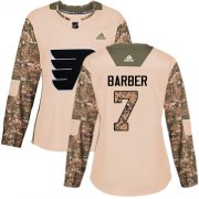 Wholesale Cheap Adidas Flyers #7 Bill Barber Camo Authentic 2017 Veterans Day Women's Stitched NHL Jersey
