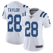 Wholesale Cheap Nike Colts #28 Jonathan Taylor White Women's Stitched NFL Vapor Untouchable Limited Jersey