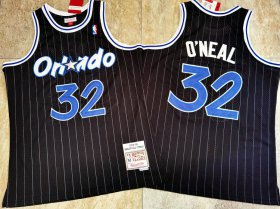 Wholesale Cheap Orlando Magic #32 Shaquille O\'neal 1994-95 Black Hardwood Classics Soul AU Throwback Jersey