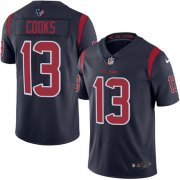 Wholesale Cheap Nike Texans #13 Brandin Cooks Navy Blue Men's Stitched NFL Limited Rush Jersey