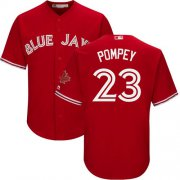 Wholesale Cheap Blue Jays #23 Dalton Pompey Red Cool Base Canada Day Stitched Youth MLB Jersey