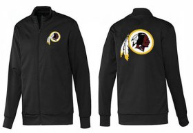 Wholesale Cheap NFL Washington Redskins Team Logo Jacket Black_1