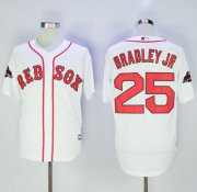 Wholesale Cheap Red Sox #25 Jackie Bradley Jr White New Cool Base 2018 World Series Stitched MLB Jersey