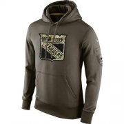 Wholesale Cheap Men's New York Rangers Nike Salute To Service NHL Hoodie