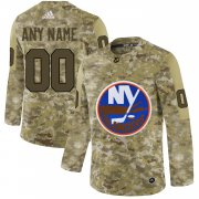 Wholesale Cheap Men's Adidas Islanders Personalized Camo Authentic NHL Jersey