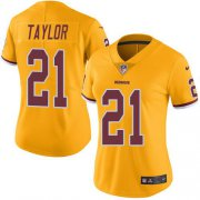 Wholesale Cheap Nike Redskins #21 Sean Taylor Gold Women's Stitched NFL Limited Rush Jersey