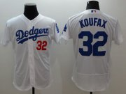 Wholesale Cheap Dodgers #32 Sandy Koufax White Flexbase Authentic Collection Stitched MLB Jersey