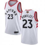 Wholesale Cheap Raptors #23 Fred VanVleet White 2019 Finals Bound Basketball Swingman Association Edition Jersey