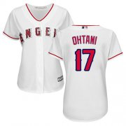 Wholesale Cheap Angels #17 Shohei Ohtani White Home Women's Stitched MLB Jersey