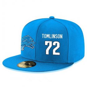 Wholesale Cheap Detroit Lions #72 Laken Tomlinson Snapback Cap NFL Player Light Blue with White Number Stitched Hat