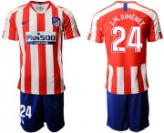 Wholesale Cheap Atletico Madrid #24 J.M.Gimenez Home Soccer Club Jersey