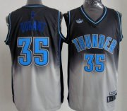 Wholesale Cheap Oklahoma City Thunder #35 Kevin Durant Black/Gray Fadeaway Fashion Jersey