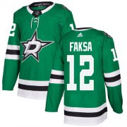Wholesale Cheap Adidas Stars #12 Radek Faksa Green Home Authentic Stitched NHL Jersey