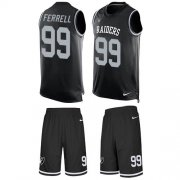 Wholesale Cheap Nike Raiders #99 Clelin Ferrell Black Team Color Men's Stitched NFL Limited Tank Top Suit Jersey