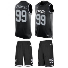 Wholesale Cheap Nike Raiders #99 Clelin Ferrell Black Team Color Men\'s Stitched NFL Limited Tank Top Suit Jersey