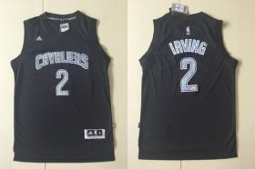 Wholesale Cheap Cavaliers #2 Kyrie Irving Black Diamond Fashion Stitched NBA Jersey