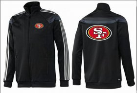 Wholesale Cheap NFL San Francisco 49ers Team Logo Jacket Black_3