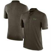 Wholesale Cheap Men's Seattle Seahawks Nike Olive Salute to Service Sideline Polo T-Shirt
