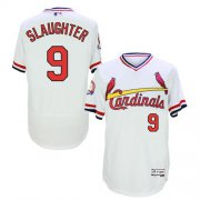 Wholesale Cheap Cardinals #9 Enos Slaughter White Flexbase Authentic Collection Cooperstown Stitched MLB Jersey