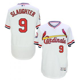 Wholesale Cardinals #9 Enos Slaughter White Flexbase Authentic Collection Cooperstown Stitched Baseball Jersey