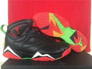 Wholesale Cheap Air Jordan 7 marvin the martian Shoes Black/Red-White-Green