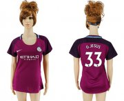 Wholesale Cheap Women's Manchester City #33 G.Jesus Away Soccer Club Jersey