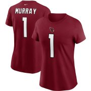 Wholesale Cheap Arizona Cardinals #1 Kyler Murray Nike Women's Team Player Name & Number T-Shirt Cardinal