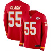 Wholesale Cheap Nike Chiefs #55 Frank Clark Red Team Color Men's Stitched NFL Limited Therma Long Sleeve Jersey
