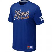 Wholesale Cheap Detroit Tigers Nike Short Sleeve Practice MLB T-Shirt Blue