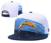 Wholesale Cheap Chargers Team Logo White Navy Adjustable Hat GS
