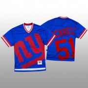 Wholesale Cheap NFL New York Giants #51 Kyler Fackrell Blue Men's Mitchell & Nell Big Face Fashion Limited NFL Jersey