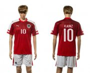 Wholesale Cheap Austria #10 Kainz Red Home Soccer Country Jersey