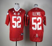 Wholesale Cheap Ravens #52 Ray Lewis Red 2012 Pro Bowl Stitched NFL Jersey
